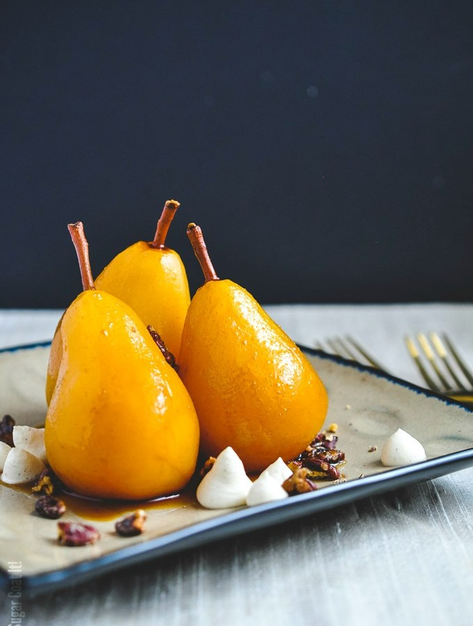 Sous Vide Marsala Poached Pears + Video