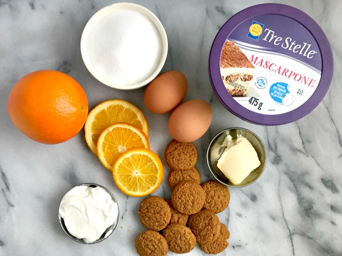 Single-serve jars of ginger cookie base and velvety, light-as-air#SousVide Orange #Mascarpone #Cheesecake made with Trestelle Cheese.