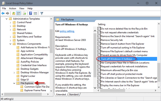 how to disable windows 10 control panel