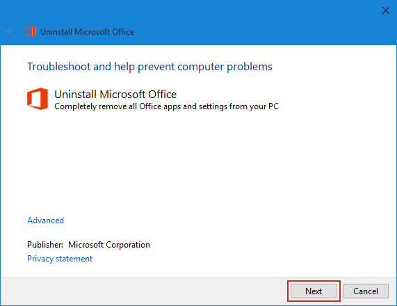 ms office removal tool