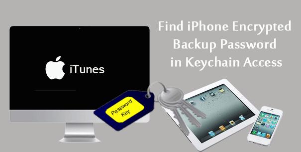 encontrar la contraseña de respaldo cifrada de iPhone