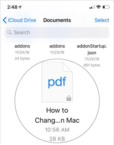 Abra un documento PDF protegido con contraseña en iPhone o iPad
