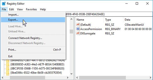 copia de seguridad de la clave de registro