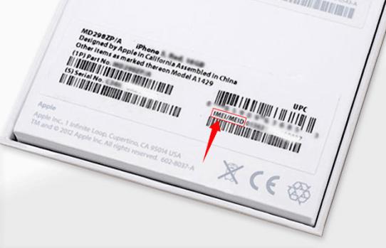 Номер IMEI есть на коробке iPhone