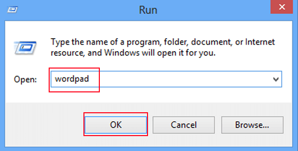 Image result for how to open wordpad using run command