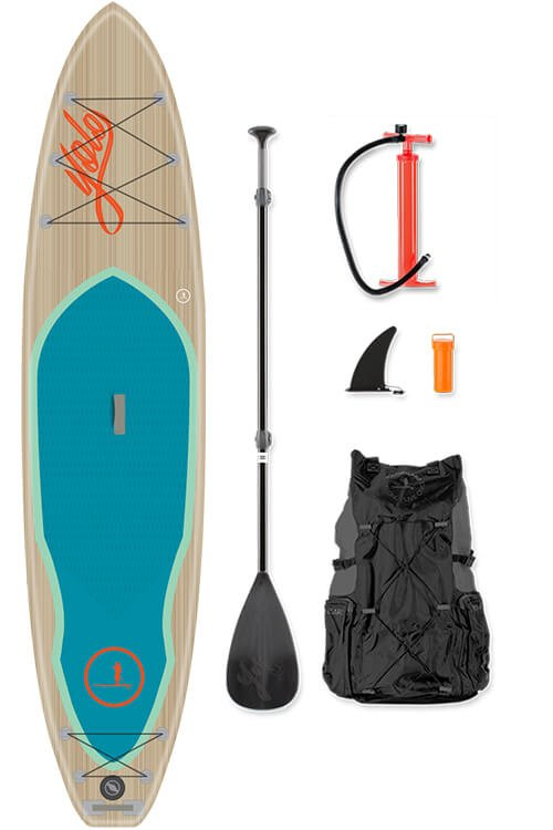yolo inflatable supboard sea teak 12