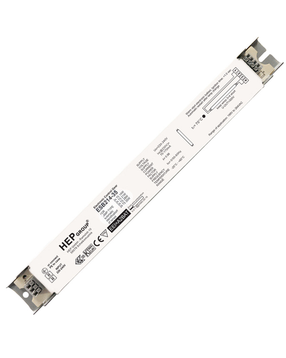 Electronic Ballast 2 X 28 Watt For T5 Fluorescent Tube