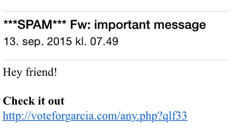 Spammer mine kontakter fra min e-mail