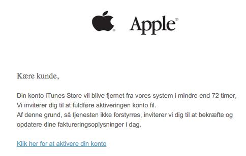 Spammails – aktiver din Apple-konto