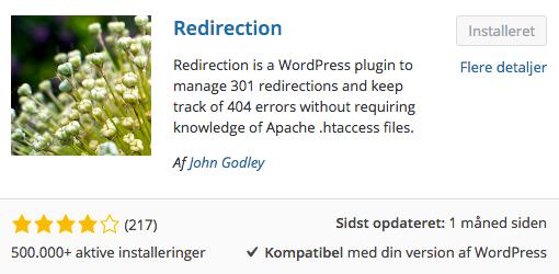 Lav 301 redirects fra én side til en anden i WordPress