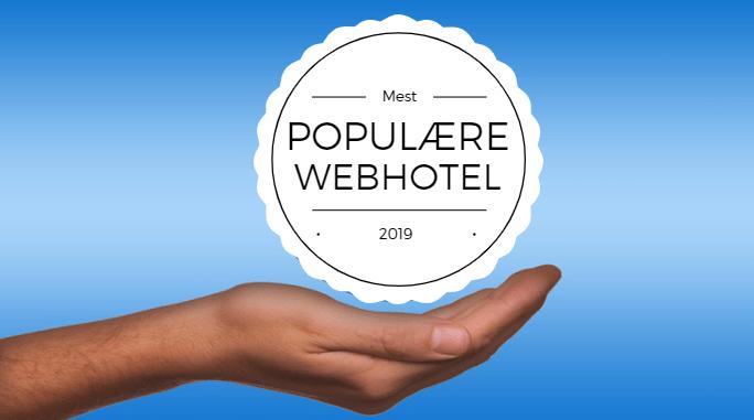 Mest populære webhotel 2019
