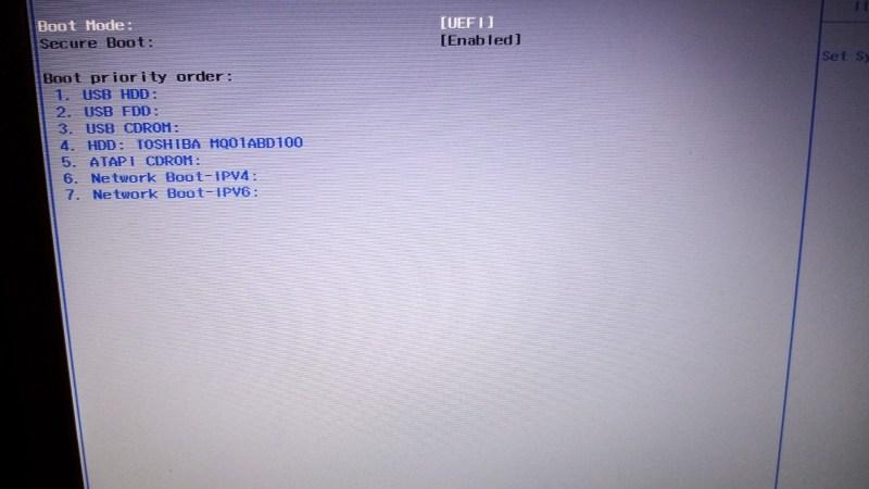 Slå Security Boot fra på en Acer Aspire laptop