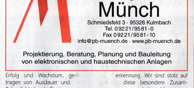 25 Jahre Planungsbüro Münch GmbH
