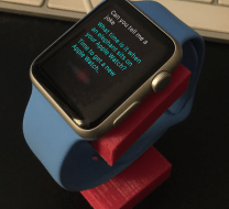 Apple Watch on stand