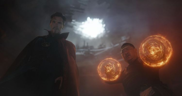 Doctor Strange (Benedict Cumberbatch) and Wong (Benedict Wong) make magic together.