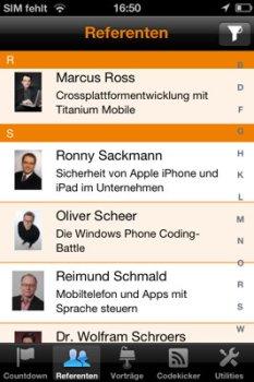 Die iPhone Developer Conference 2011 lässt sich mit der zugehörigen App prima planen