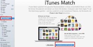 Jetzt ab sofort auch bei uns zu haben: iTunes Match