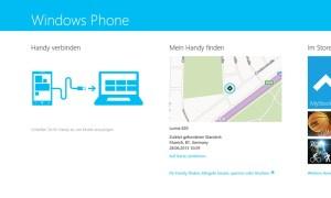Windows 8.1 - Windows Phone-8-Device und Windows 8-PC per USB-Kabel verbinden