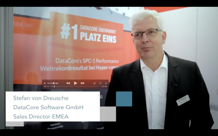 CeBIT 2017: Stefan von Dreusche über die DataCore-Lenovo-Storage-Appliance