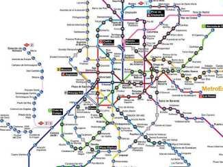 mappa metro madrid