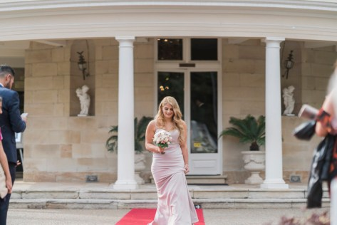 Blush bridesmaid - Beautiful simple + elegant outdoor wedding under the Chateau in the garden | itakeyou.co.uk - garden wedding ,outdoor wedding ,blush wedding