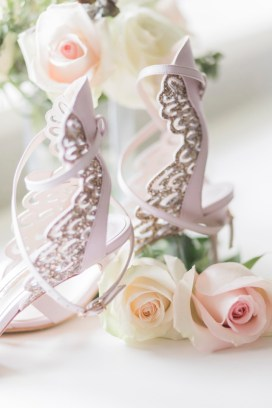 Elegant bridal shoes - Beautiful simple + elegant outdoor wedding under the Chateau in the garden | itakeyou.co.uk - garden wedding ,outdoor wedding ,blush wedding