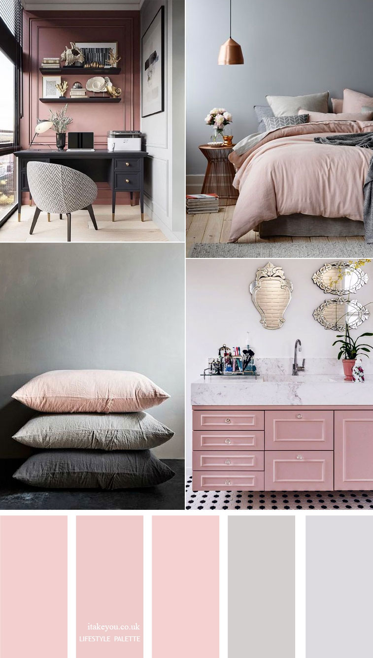 Pink And Grey Color Scheme 15 House Color Palette Ideas