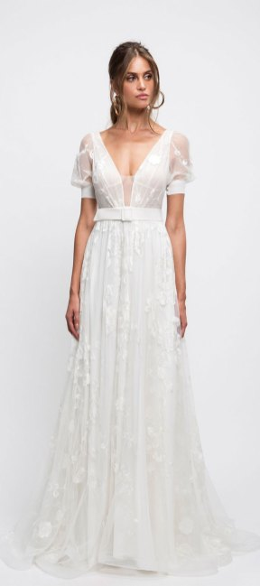 pretty wedding dresses, spring wedding gowns, spring wedding dresses, short sleeve wedding dress , a-line wedding dresses