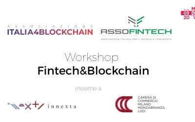 Digital Week 2020 Milano – Workshop Fintech&Blockchain: Italia4Blockchain e Assofintech insieme a INNEXTA e la Camera di Commercio di Milano Monza Brianza Lodi