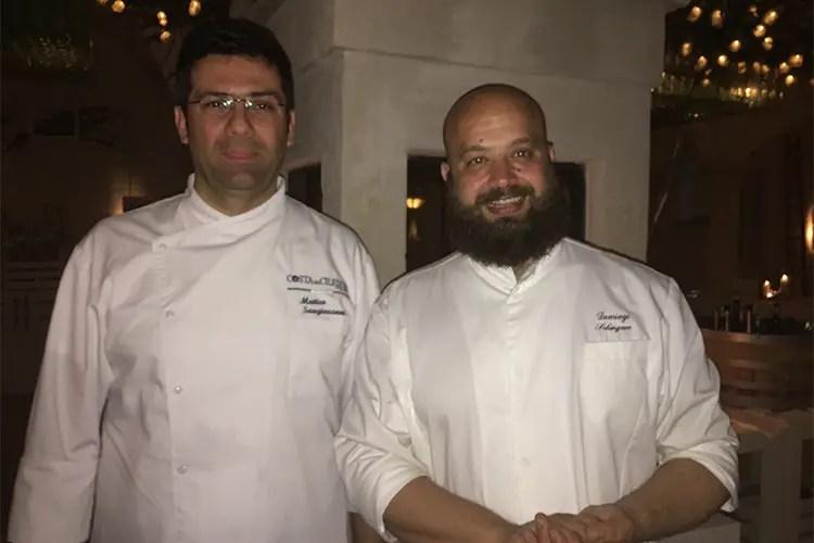 Matteo Sangiovanni e Domingo Schingaro - Euro-Toques, alta cucina a Borgo Egnazia Alla prima serata Matteo Sangiovanni