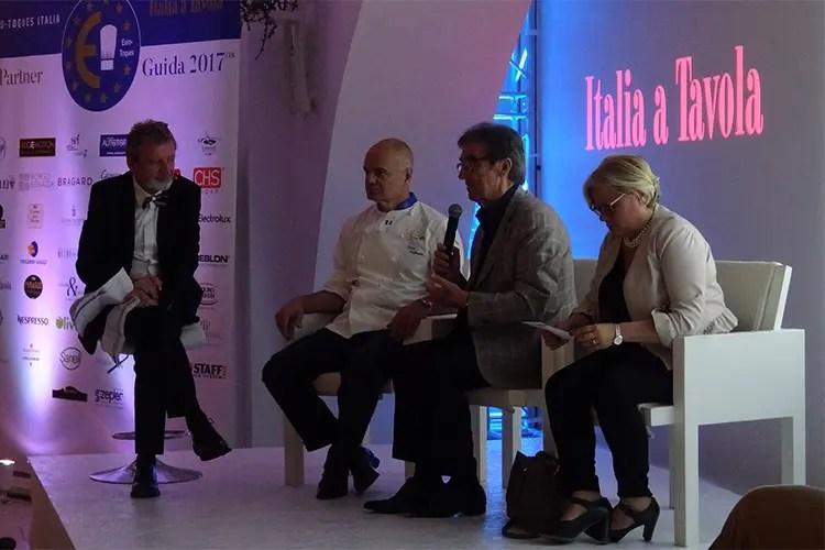 Alberto Lupini, Enrico Derflingher, Riccardo Cotarella e Loredana Capone - Euro-Toques, vince l'associazionismo Nuova guida e alta cucina in Puglia