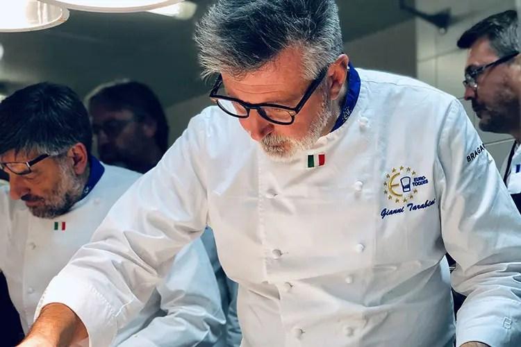 Gianni Tarabini (Euro-Toques al Just Cavalli Riso Campo dell'Oste protagonista)