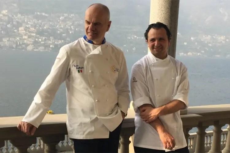 Enrico Derflingher e Massimiliano Mandozzi - Il ritrovo di Euro-Toques International Una cena evento al CastaDiva Resort