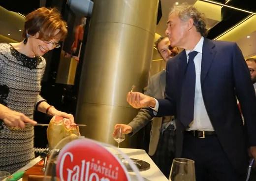 Mirella Galloni (Galloni Prosciutti) e Massimo Giletti