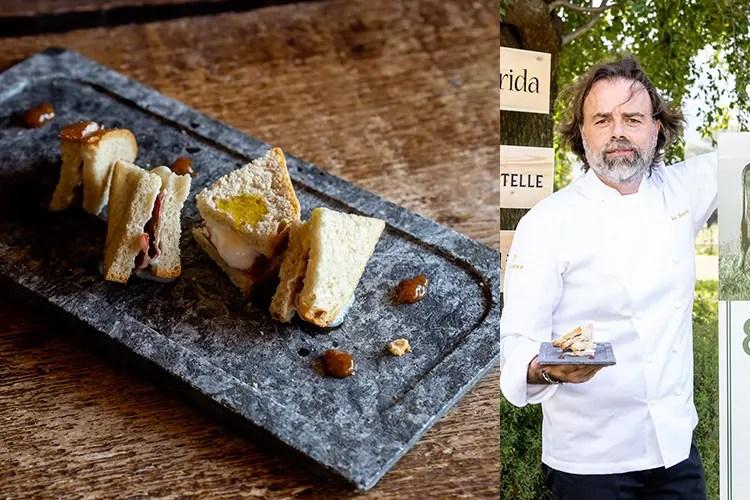 Toast caldo al burro, bresaola croccante, checiap e gelato al Bitto - Simone Bonini (Una serata dedicata al Bitto 19 cuochi, 19 ricette ad hoc)