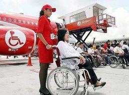 I turisti con disabilità ed il viaggio in aereo