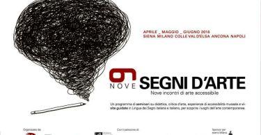 """segnidarte italiaccessibile - """"9 Segni d'Arte"""" : da Nord a Sud incontri, visite guidate per disabilità sensoriali"""