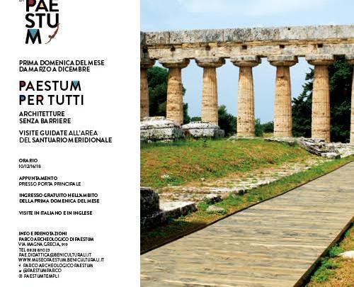 """Paestum, 2 luglio """"Architetture senza barriere"""" al Tempio di Nettuno"""