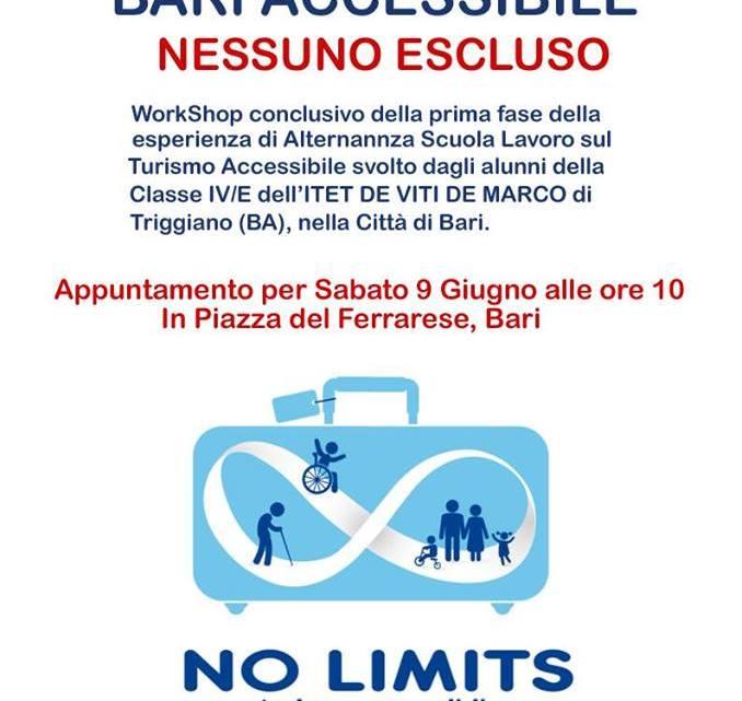 9 giugno a Bari Workshop sul turismo accessibile