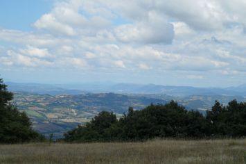 Panorama dal monte Alago