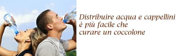 Emergenze - Distribuire acqua e cappellini è più facile che curare un coccolone