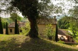 Het huis gezien van de zijkant
