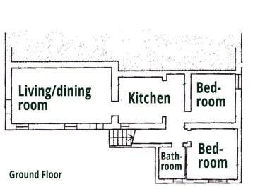 Appartement op de benedenverdieping