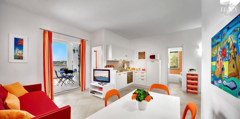 Appartement Figaro   Woonkamer met toegang tot het terras