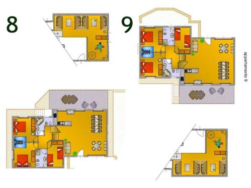 Plattegrond villa 9 en 10