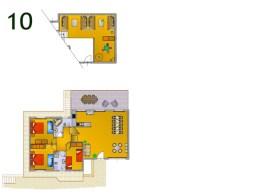 Plattegrond villa 8