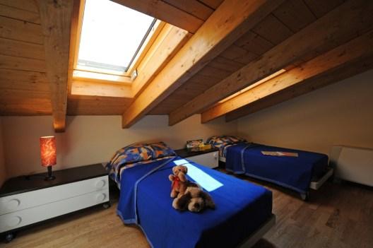 Slaapkamer 3 met 1-persoonsbedden