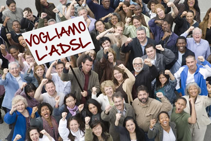 adsl vogliamo 001 Akamai: In Italia la velocità media di Internet è di 3 Mbps, in Corea del Sud è 16,6 Mbps