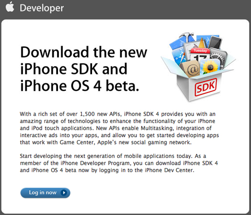 downloadiphone4beta Apple invita i programmatori a scaricare iPhone OS 4 e iPhone SDK beta