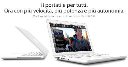MacBook 18.05.10 001 Disponibile il nuovo MacBook a 999 Euro, piccole novità hardware e unautonomia fino a 10 ore